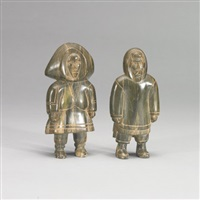 an inuit couple (2 works) by phillip qamanirq