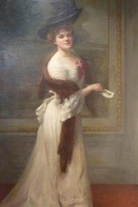 portrait d'une élégante by andré félix roberty