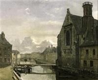 vue de la ville (gand?) by françois jean louis boulanger