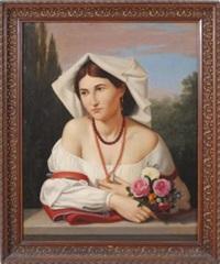 popolana con mazzo di rose by anonymous (19)