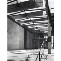 seagram building 53rd street entrance (2 works) by ezra stoller