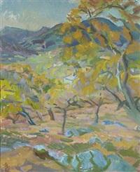 landschaftsmalerei von mallorca by hans (detlev) henningsen