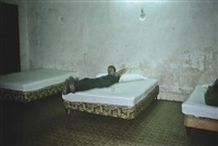 brian with three beds. hotel seville. merida, mexico by nan goldin