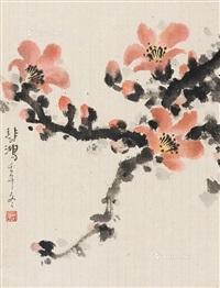 木棉花 立轴 纸本 by xu beihong