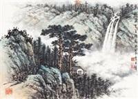 观瀑图 by huang junbi