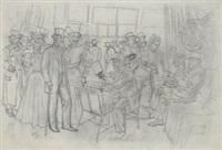 a l'exposition de peinture (+ a l'exposition de dessin, smaller; 2 works) by oswald heidbrink