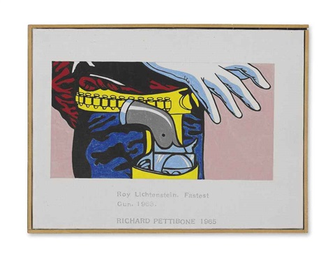 roy lichtenstein fastest gun by richard pettibone