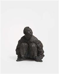 squatting man by liang shuo