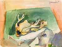 conversation by maria lassnig
