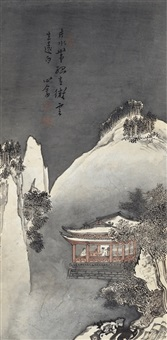寒山雪夜图 (winter mountian) by pu ru