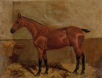 mornington portrait of a hunter in a landscape by frank paton