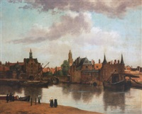 view of delft by johannes (van delft) vermeer