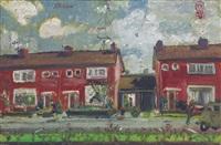 rumah di gorkum (the red house) by s. sudjojono