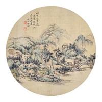 圆光 镜片 设色纸本 by qi gong