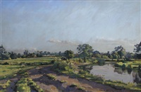 the river wensum at great ryburgh, norfolk by richard foster
