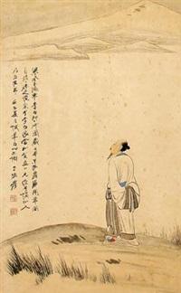 李白行吟图 by zhang daqian