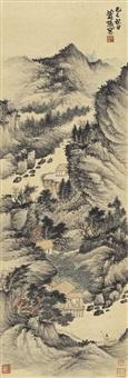 策杖访友图 (scholar's visit) by xiao xun