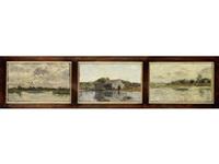 three river landcapes by beppe ciardi