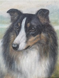 collie dogs (pair) by edward aistrop