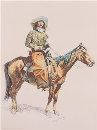 a bunch of buckskins: an arizona cowboy by frederic remington