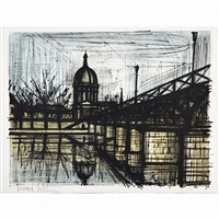 pont des arts by bernard buffet
