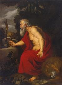 saint jerome by sir anthony van dyck
