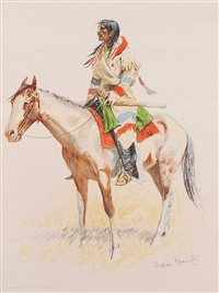 a bunch of buckskins: an indian scout by frederic remington