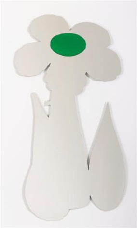 inflatable flower (green) by jeff koons