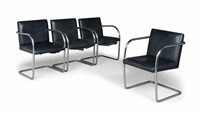 brno chairs (set of 4) by ludwig mies van der rohe