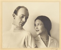 portrait of jetta goudal and harold grieve by margrethe mather