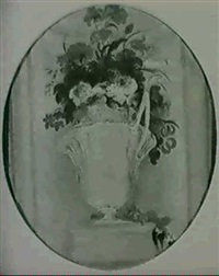 still life of flowers in an urn by william hassell