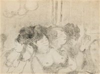 au salon (ces dames) by edgar degas