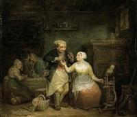 scène galante dans une auberge by leopold fissette