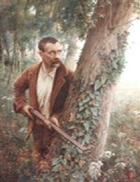 chasseur à l'affût by andré chabellard