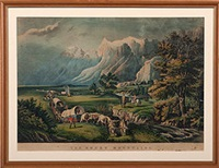the rocky mountains by currier & ives (publishers)