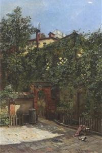 sommerlicher innenhof by rela hönigsmann