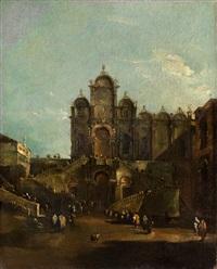 papst pius vi segnet 1728 das volk auf dem campo santi giovanni e paolo in venedig by francesco guardi