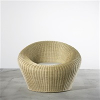 round chair, model t-3010 by isamu kenmochi