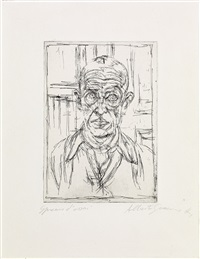 portrait de michel leiris i (from vivantes cendres, innommées) by alberto giacometti