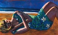fille couchée sur la plage by jan worst