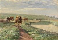 vacas en el campo by léon barillot