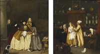 the fortune teller and the apothecary (2 works) by pietro longhi