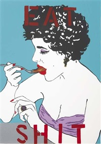 eat shit (from liz taylor series) by kathe burkhart