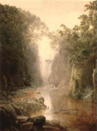 the quiet pool/a welsh landscape by thomas finchett