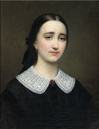 portrait d'une fille by joseph henri françois van lerius