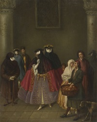 meeting of the dominoes by pietro longhi