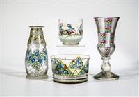 paar vasen mit metallmontierung (pair) by ferdinand von poschinger