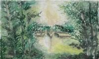 paysage d'automne avec village (+ 2 others, smllr; 3 works) by verone