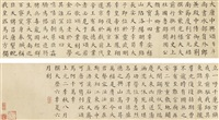 calligraphy in regular script after yan zhenqing by zhang zhao