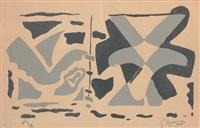 fenêtre ii: oiseaux gris by georges braque